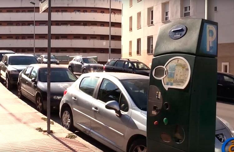 aparcamiento de coches en zona azul