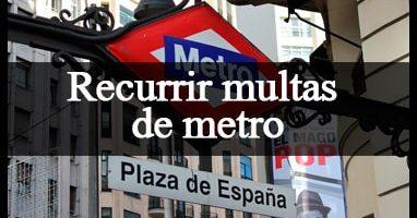 recurrir multa de metro
