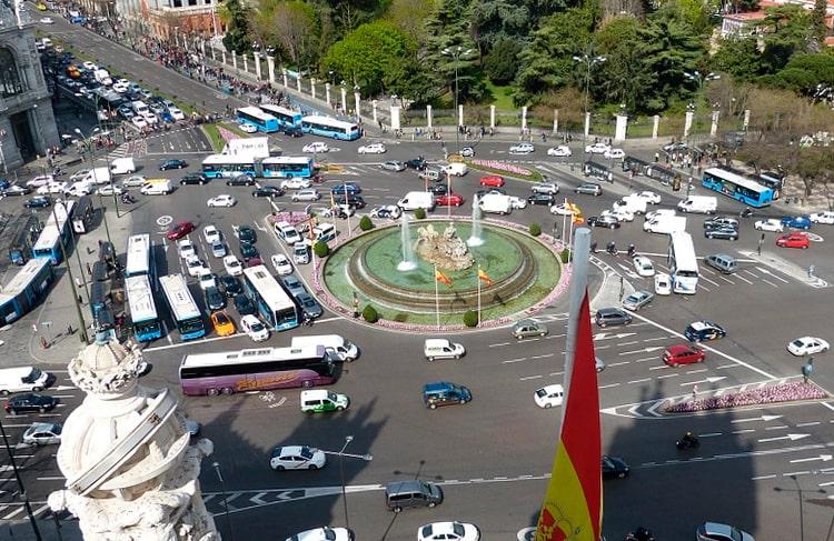 tráfico de coches en Madrid