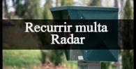 pasos recurrir multa radar