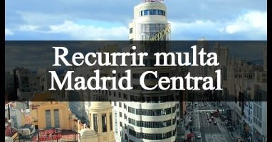 recurso multa madrid central